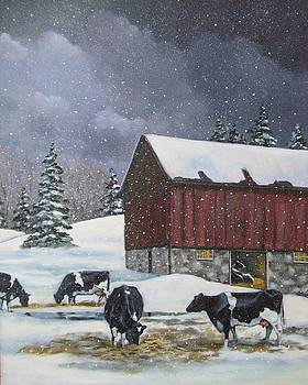 Joyce Geleynse - Holstein Cows on Snowy Day