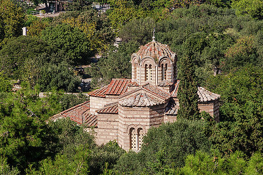 Holy Apostles Church Ancient Agora from Acropolis Athens by Jebulon