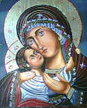 Holy Mother and Christ by Sonya Chaushka