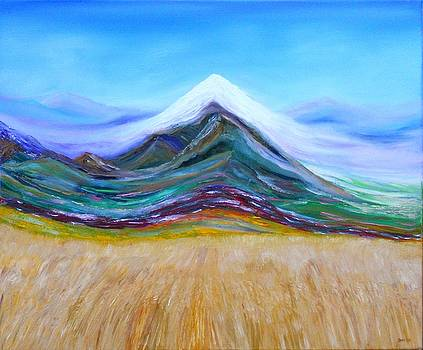 Holy Mountain Above the wheat by David King Johnson