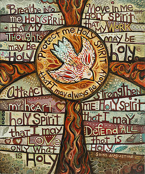 Holy Spirit Prayer by St. Augustine by Jen Norton