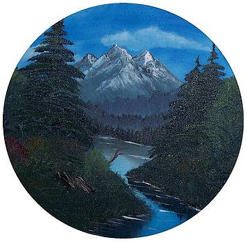 Homage to Bob Ross by Kellie Hogben