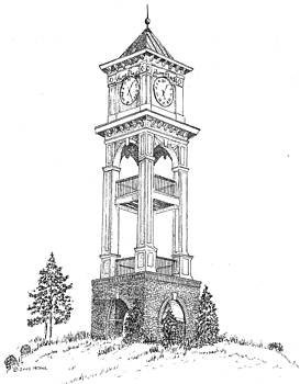 Home Place Clock Tower by Barney Hedrick