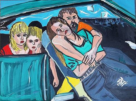 Homeless In  There Car by Jeffrey Foti