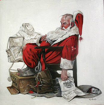 Homeless Santa by Margot King