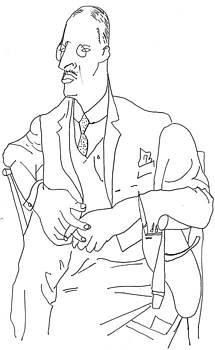Homem Sentado by Rakyul - Raul Augusto Silva Junior