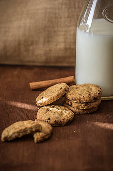 Homemade cookies and milk by Julian Popov