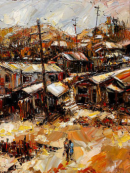 Homes In The Hills  Chaves Revine by Debra Hurd