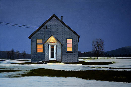 Homestead Late Winter Evening by Allan OMarra