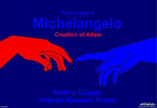 Hommage a Michelangelo  by Asbjorn Lonvig