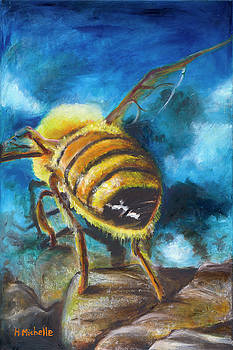 Honey Bee into Blue by Holly Michelle Hargus