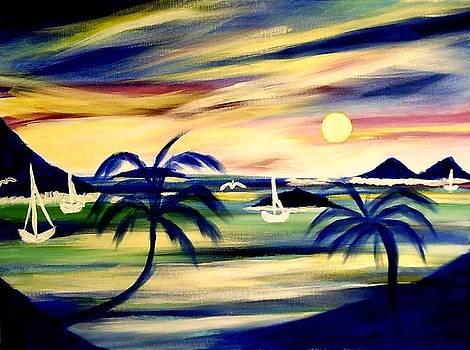 Honeymoon Beach Water Island Virgin Islands by Ted Hebbler
