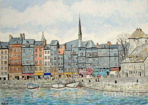 Honfleur Harbour, Normandy, France by Peter Farrow