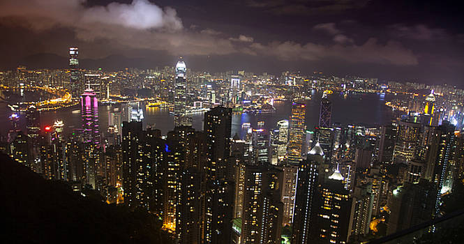 Hong Kong at Night by Jed Holtzman