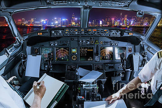 Hong Kong Cockpit flight by Benny Marty