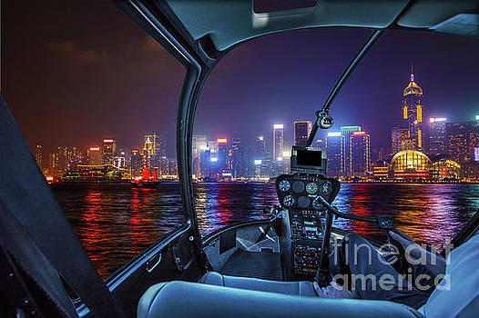Hong Kong Helicopter panorama by Benny Marty