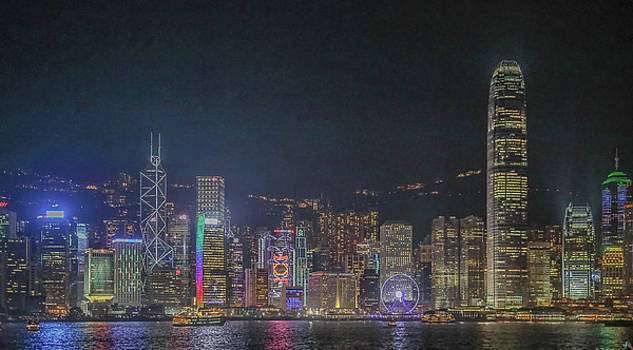Hongkong At Night Two by Hyuntae Kim