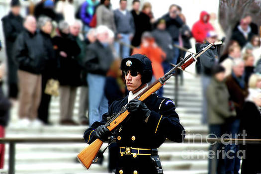 Honor Guard at Arlington Cemetery by April Sims