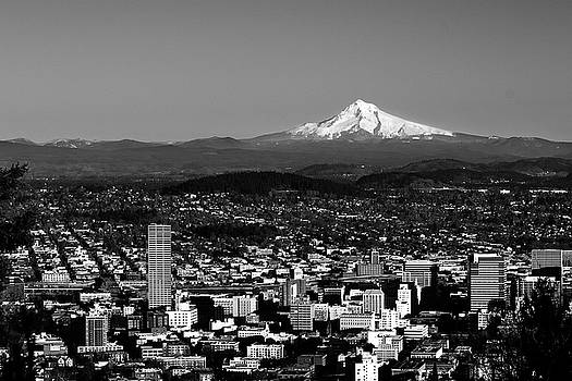 Hood Over Portland by Curtis Knight