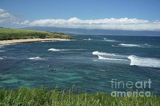 Ho'okipa Beach View from Ho'okipa Beach Park Hana Maui by Peter Dang