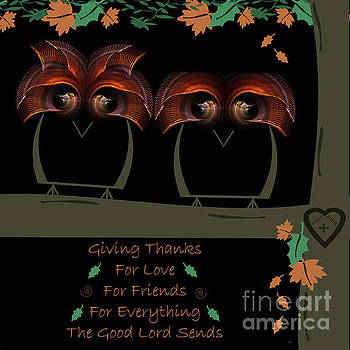 Hoot N Annie Owls Thanksgiving by Kimberly Hansen
