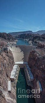 Hoover Dam Vertical Panorama by Michael Ver Sprill