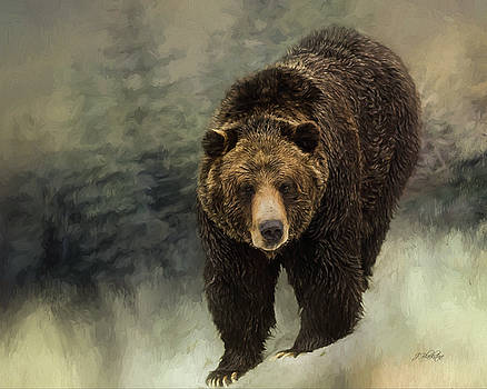 Hope And Strength - Grizzly Bear Art by Jordan Blackstone