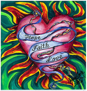 Hope Faith Love by Susan Cooke Pena