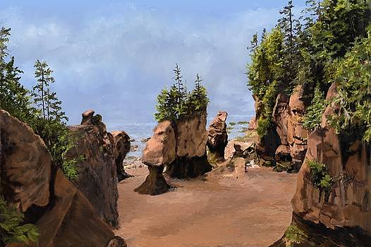 Hopewell Cape Rocks 4 by Edith Hicks