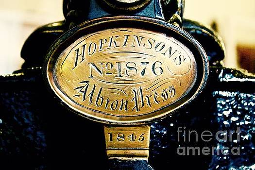 Hopkinson's Albron Press by Phil Cappiali Jr