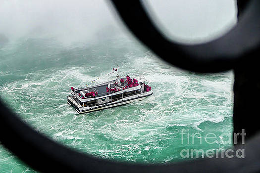 Hornblower boat with tourist by Miro Vrlik