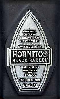 Hornitos Black Barrel Tequila Label by Norman Pogson
