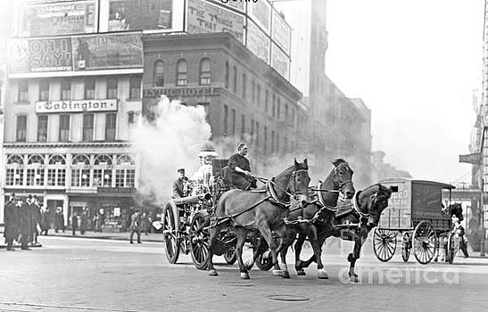 Horse and Carriage Fire Brigade New York City  by Pd