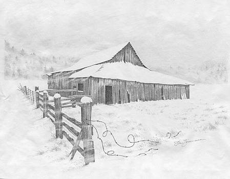 Horse Barn by Stanley Zimmerman