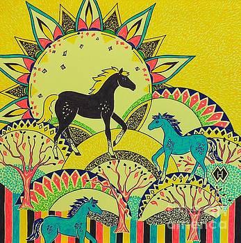 Horse Design Drawing No. 6 by Heather McFarlane-Watson