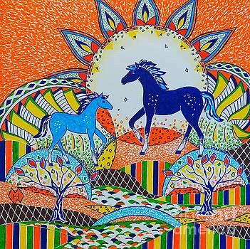 Horse Design Drawing No. 7 by Heather McFarlane-Watson