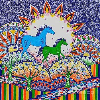 Horse Design Drawing No. 8 by Heather McFarlane-Watson