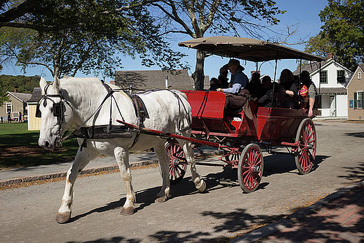 Horse Drawn Carriage in Mystic Seaport by Kirkodd Photography Of New England