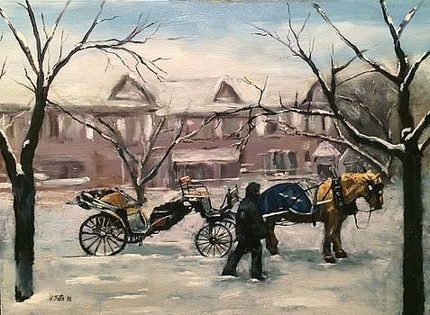 Horse-Drawn Carriage by Victor SOTO