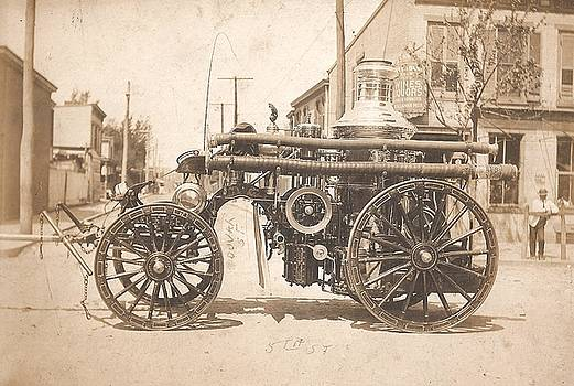 Horse Drawn Fire Engine 1910 by Virginia Coyle
