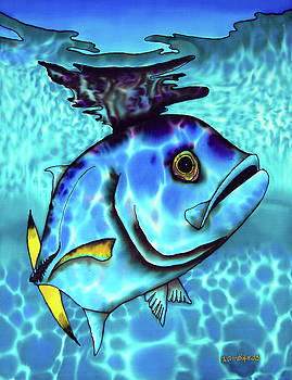 Horse Eyed Jack Fish by Daniel Jean-Baptiste