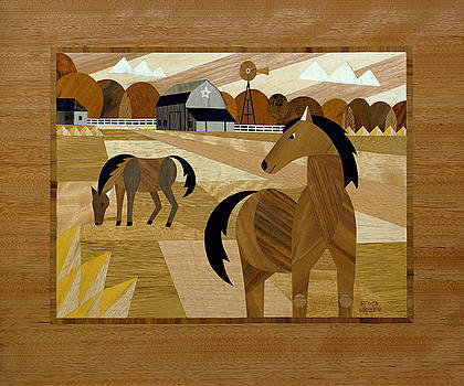 Horse Farm Marquetry New Photo by Bruce Bodden