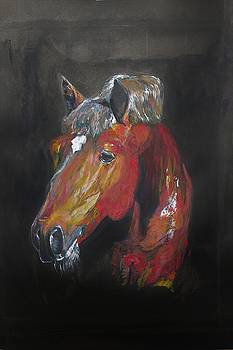 Horse Head by Khalid Saeed