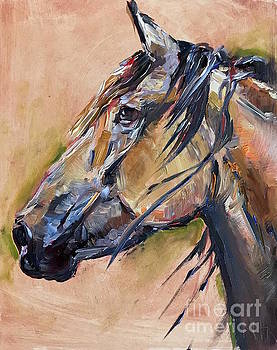 Horse Head by Maria's Watercolor