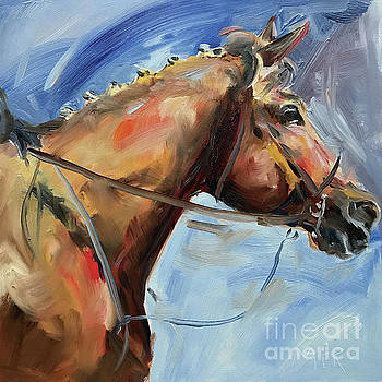 Horse Head Study by Maria's Watercolor