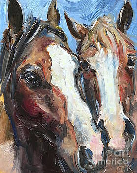 Horse Heads by Maria's Watercolor