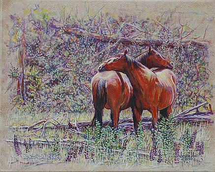 Horse Hugs by LeRoy Jesfield