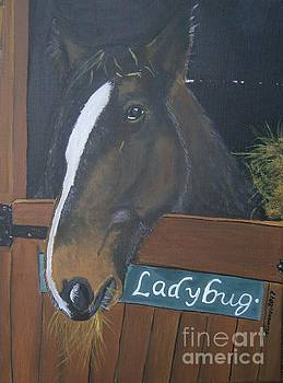 Horse in Stable by Neal Crossan