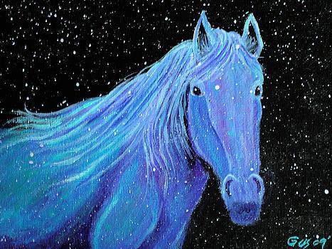 Nick Gustafson - Horse-midnight snow