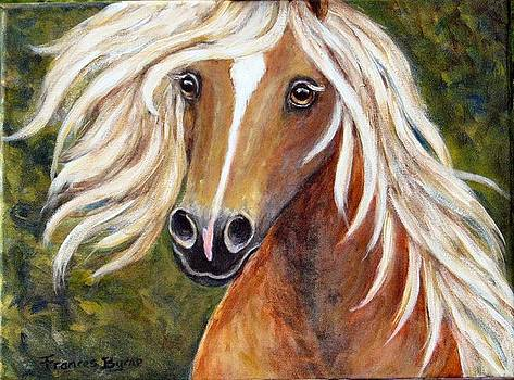 Horse Painting Blondie by Frances Gillotti
